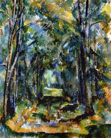 Paul Cezanne The Alley at Chantilly - Hand Painted Oil Painting
