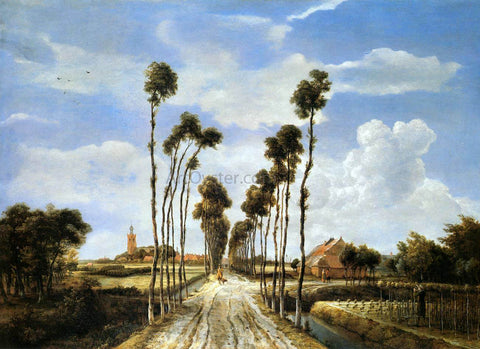 Meyndert Hobbema The Alley at Middelharnis - Hand Painted Oil Painting