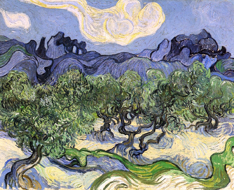 Vincent Van Gogh The Alpilles with Olive Trees in the Foreground - Hand Painted Oil Painting