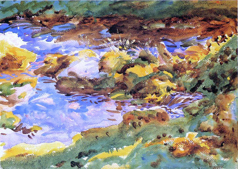 John Singer Sargent The Alps: Val D'Aosta, Purtud - Hand Painted Oil Painting