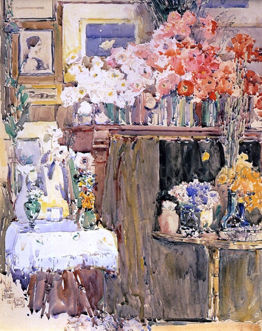 Frederick Childe Hassam The Altar and the Shrine - Hand Painted Oil Painting