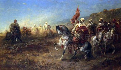Adolf Schreyer The Ambush - Hand Painted Oil Painting