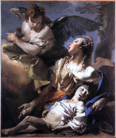 Giovanni Battista Tiepolo The Angel Succouring Hagar - Hand Painted Oil Painting
