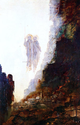 Gustave Moreau The Angels of Sodom - Hand Painted Oil Painting