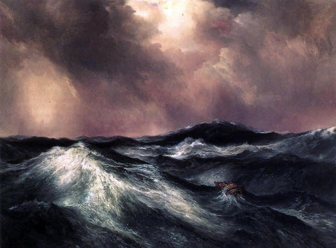 Thomas Moran The Angry Sea - Hand Painted Oil Painting