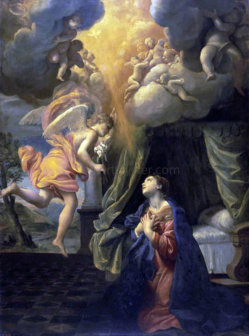 Giovanni Lanfranco The Annunciation - Hand Painted Oil Painting