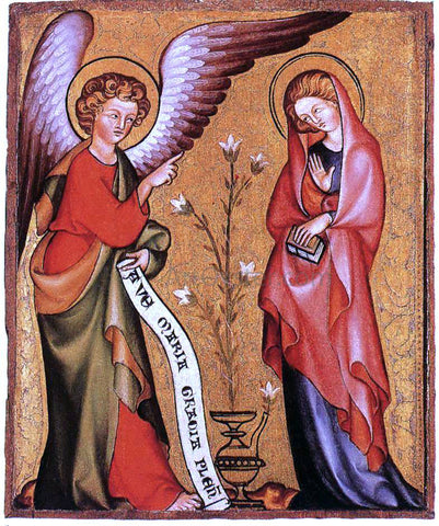 Painters (2) Masters The Annunciation - Hand Painted Oil Painting