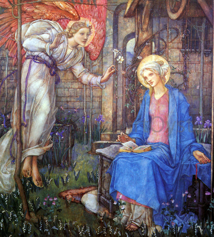 Edward Reginald Frampton The Annunciation - Hand Painted Oil Painting