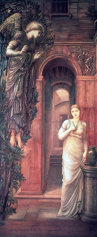Sir Edward Burne-Jones The Annunciation - Hand Painted Oil Painting