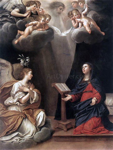 Francesco Albani The Annunciation - Hand Painted Oil Painting