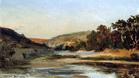 Jean-Baptiste-Camille Corot The Aqueduct in the Valley - Hand Painted Oil Painting