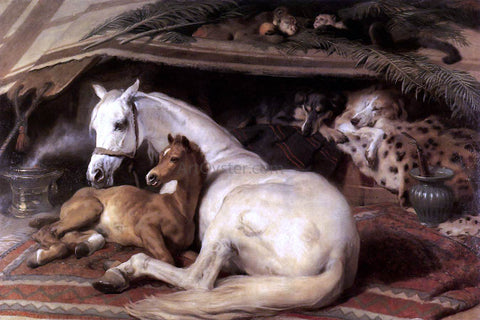 Sir Edwin Henry Landseer The Arab Tent - Hand Painted Oil Painting