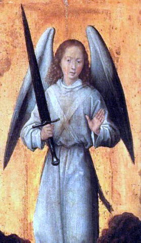 Hans Memling The Archangel Michael - Hand Painted Oil Painting