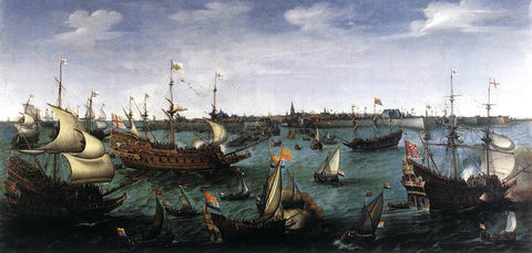 Hendrick Cornelisz Vroom The Arrival at Vlissingen of the Elector Palatinate Frederick V - Hand Painted Oil Painting