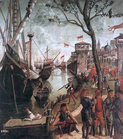 Vittore Carpaccio The Arrival of the Pilgrims in Cologne - Hand Painted Oil Painting