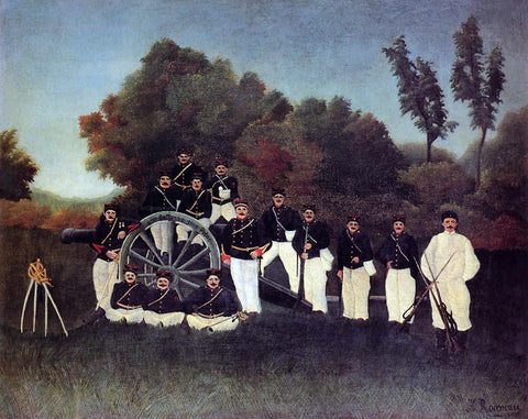 Henri Rousseau The Artillerymen - Hand Painted Oil Painting