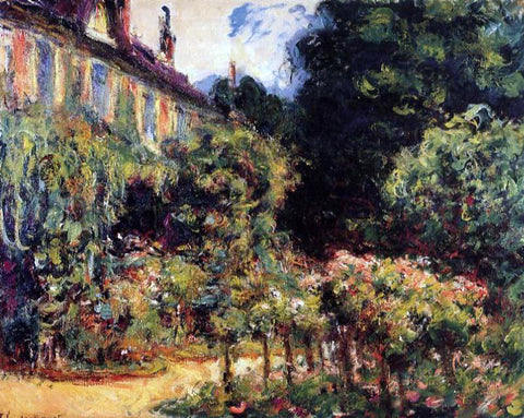 Claude Oscar Monet The Artist's House at Giverny - Hand Painted Oil Painting
