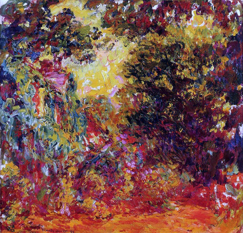 Claude Oscar Monet The Artist's House Seen from the Rose Garden - Hand Painted Oil Painting