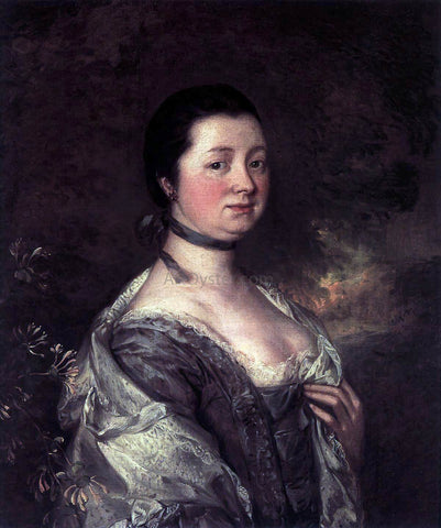 Thomas Gainsborough The Artist's Wife - Hand Painted Oil Painting