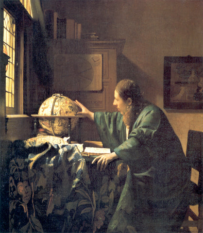 Johannes Vermeer The Astronomer - Hand Painted Oil Painting