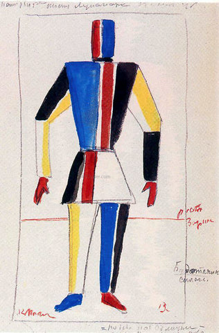 Kazimir Malevich The Athlete of the Future - Hand Painted Oil Painting