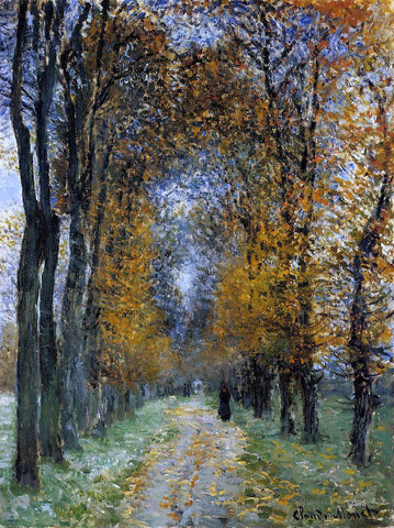 Claude Oscar Monet The Avenue - Hand Painted Oil Painting