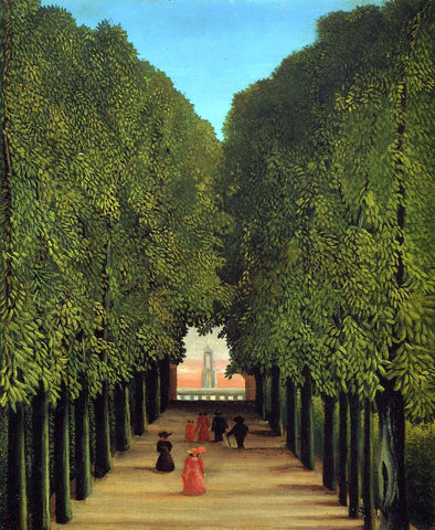 Henri Rousseau The Avenue in the Park at Saint-Cloud - Hand Painted Oil Painting
