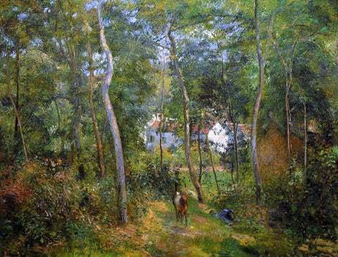 Camille Pissarro The Backwoods of l'Hermitage, Pontoise - Hand Painted Oil Painting