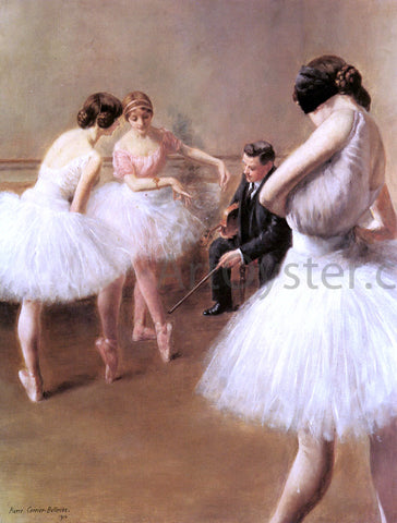 Pierre Carrier-Belleuse The Ballet Lesson - Hand Painted Oil Painting