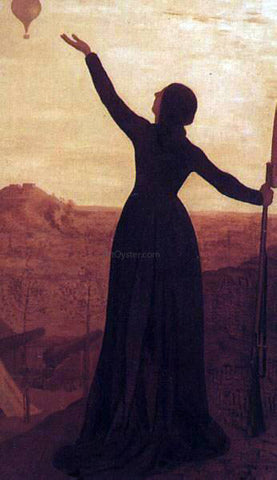 Pierre Puvis De Chavannes The Balloon - Hand Painted Oil Painting