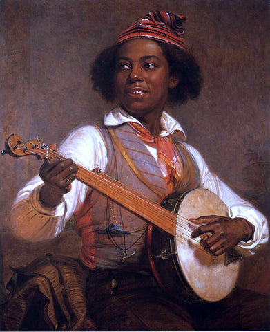 William Sidney Mount The Banjo Player - Hand Painted Oil Painting