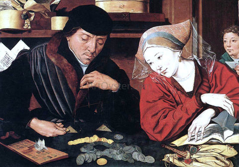Marinus Van Reymerswaele The Banker and His Wife - Hand Painted Oil Painting