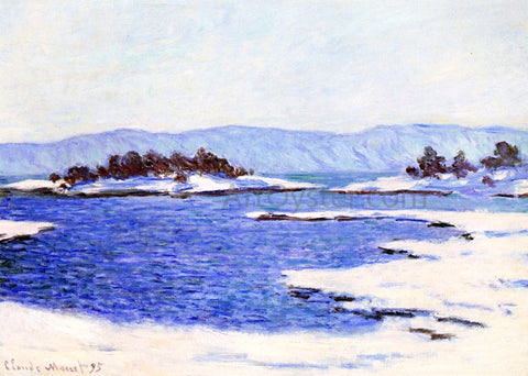 Claude Oscar Monet The Banks of the Fjord at Christiania - Hand Painted Oil Painting