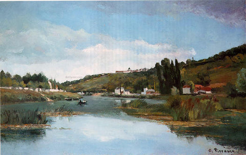 Camille Pissarro The Banks of the Marne at Chennevieres - Hand Painted Oil Painting