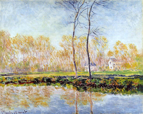 Claude Oscar Monet The Banks of the River Epte at Giverny - Hand Painted Oil Painting