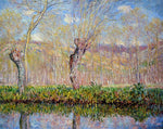 Claude Oscar Monet The Banks of the River Epte in Springtime - Hand Painted Oil Painting
