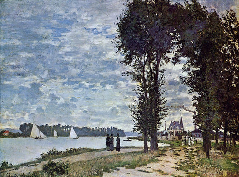 Claude Oscar Monet The Banks of the Seine at Argenteuil - Hand Painted Oil Painting