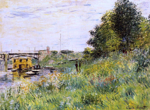 Claude Oscar Monet The Banks of the Seine at the Argenteuil Bridge - Hand Painted Oil Painting