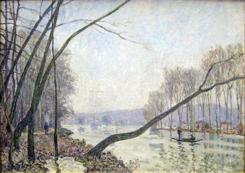 Alfred Sisley The Banks of the Seine in Autumn - Hand Painted Oil Painting
