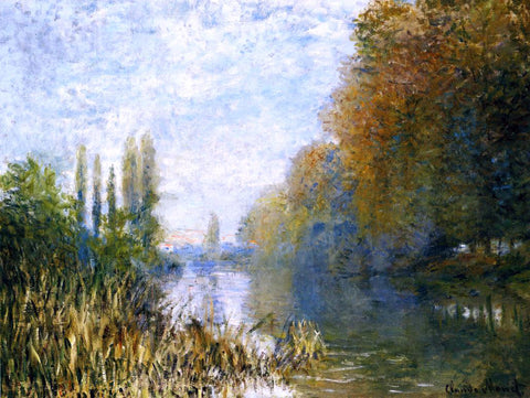 Claude Oscar Monet The Banks of The Seine in Autumn - Hand Painted Oil Painting