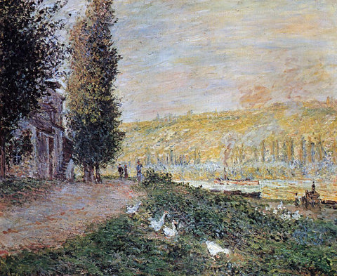 Claude Oscar Monet The Banks of the Seine, Lavacourt - Hand Painted Oil Painting