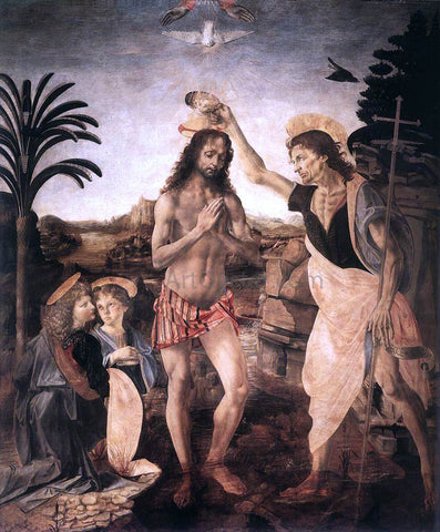Andrea del Verrocchio The Baptism of Christ - Hand Painted Oil Painting