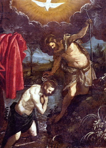 Domenico Tintoretto The Baptism Of Christ - Hand Painted Oil Painting