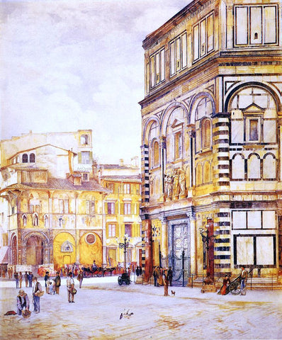 Henry Roderick Newman The Baptistery of San Giovanni - Hand Painted Oil Painting