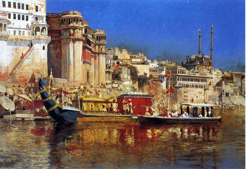 Edwin Lord Weeks The Barge of the Maharaja of Benares - Hand Painted Oil Painting
