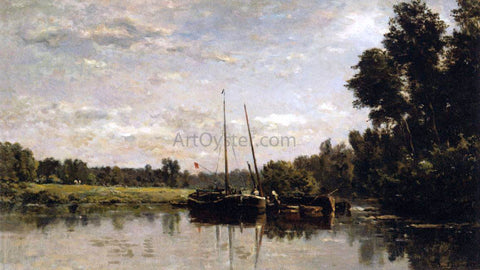 Charles Francois Daubigny The Barges - Hand Painted Oil Painting
