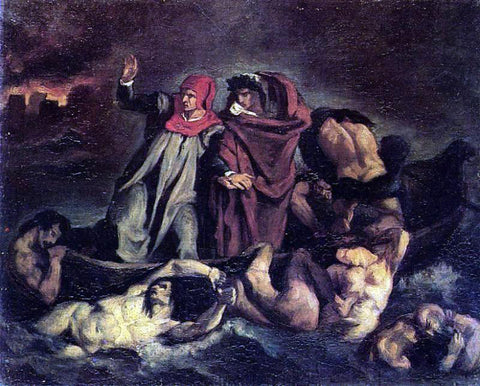 Edouard Manet The Barque of Dante (after Delacroix) - Hand Painted Oil Painting