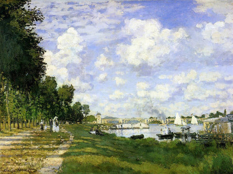 Claude Oscar Monet The Basin at Argenteuil - Hand Painted Oil Painting