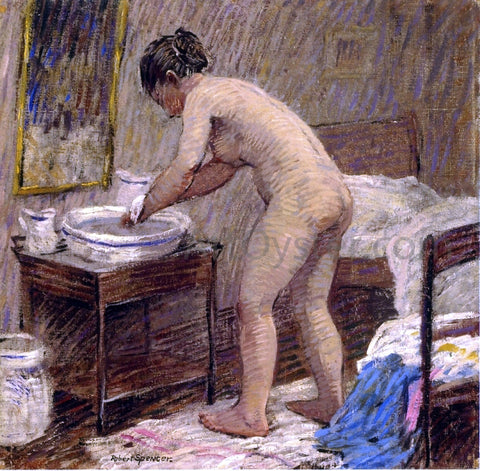 Robert Spencer The Bath - Hand Painted Oil Painting