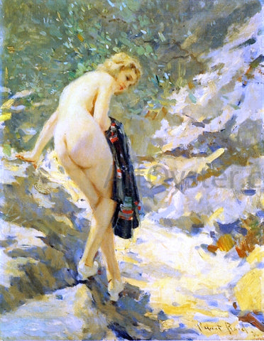 Robert Lewis Reid Bather - Hand Painted Oil Painting